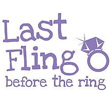 Last fling before the ring Photographic Print