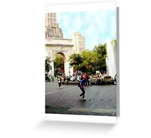 Washington Square, Greenwich Village, NYC, NY Greeting Card