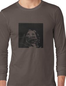 Self Portrait - Lino Cut Long Sleeve T-Shirt