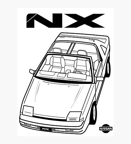 Nissan Pulsar NX Action Shot (LHD) Photographic Print