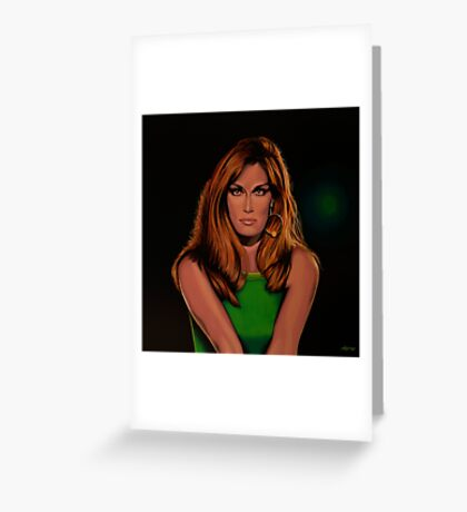 Dalida Portrait Painting Greeting Card