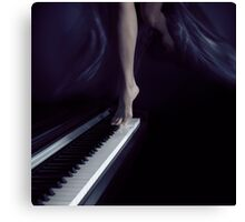 Woman legs dancing on piano art photo print Canvas Print