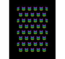 Psychedelic Geek Cat Photographic Print