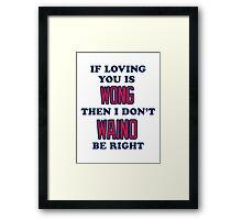 Cardinal Love Framed Print