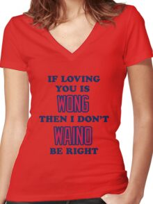 Cardinal Love Women's Fitted V-Neck T-Shirt