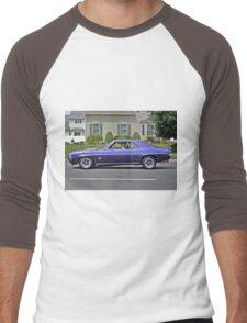 Purple Mustang Men's Baseball ¾ T-Shirt