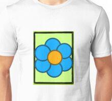 Blue Flower on Mint Unisex T-Shirt