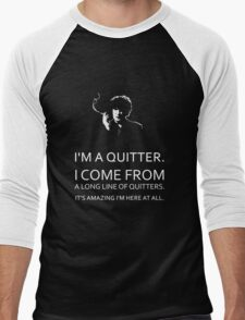 Black Books - Bernard Black - Dylan Moran Men's Baseball ¾ T-Shirt