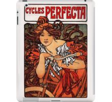 'Cycles Perfecta' by Alphonse Mucha (Reproduction) iPad Case/Skin
