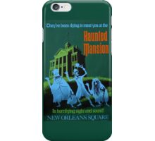 Magic Kingdom Haunted Mansion Poster iPhone Case/Skin