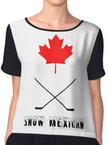Snow Mexican Canada Chiffon Top