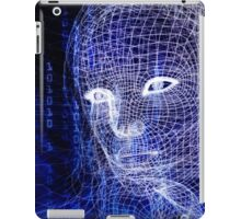 Woman digital face conceptual 3D illustration art photo print iPad Case/Skin