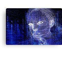 Woman digital face conceptual 3D illustration art photo print Canvas Print