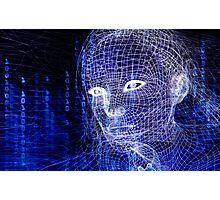 Woman digital face conceptual 3D illustration art photo print Photographic Print