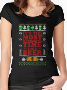 It's The Most Wonderful Time For A Beer T Shirt Women's Fitted Scoop T-Shirt