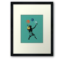 Juggling cat Framed Print