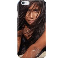 Young woman lying in sand artistic portrait art photo print iPhone Case/Skin