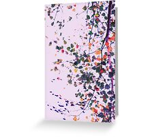 Nature Pattern # 8 - Birch (Pink) Greeting Card