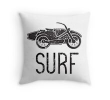 Motorbike Surf by Boogie Burn Brand Throw Pillow