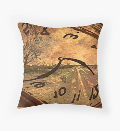 On the Wrong Side of Time Throw Pillow