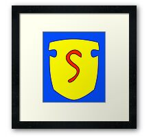S Shield Framed Print