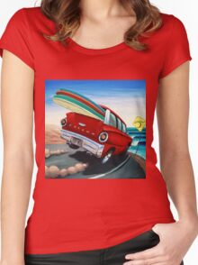 Surfin Wagon Women's Fitted Scoop T-Shirt