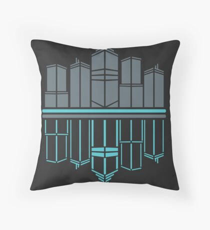 Neon Night  Throw Pillow