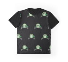 Kitten - Green (Pattern 3) Graphic T-Shirt