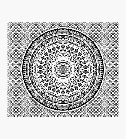 Mandala Monochrome Photographic Print