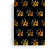 It's Game Time - Yellow (Pattern 2) Canvas Print