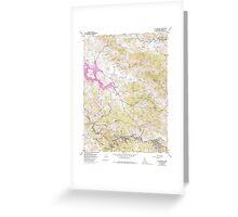 USGS TOPO Map California CA San Geronimo 300080 1954 24000 geo Greeting Card