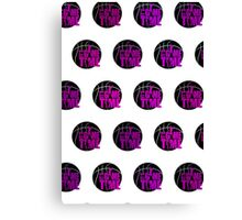 It's Game Time - Pink (Pattern 1) Canvas Print