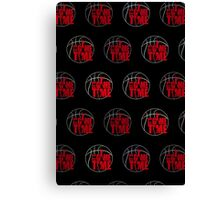 It's Game Time - Red (Pattern 2) Canvas Print