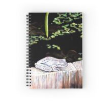 CHILLIN' AT THE LILY POND Spiral Notebook