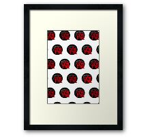 It's Game Time - Red (Pattern 1) Framed Print