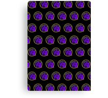 It's Game Time - Purple & Gold (Pattern 2) Canvas Print