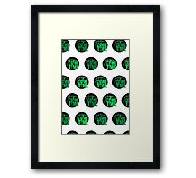 It's Game Time - Green (Pattern) Framed Print