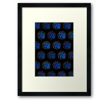 It's Game Time - Blue (Pattern 2) Framed Print