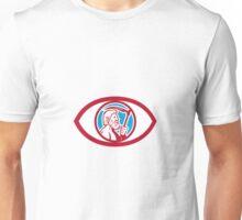 Cronus Holding Scythe Eye Retro Unisex T-Shirt