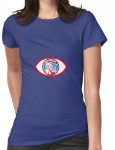 Cronus Holding Scythe Eye Retro Womens Fitted T-Shirt