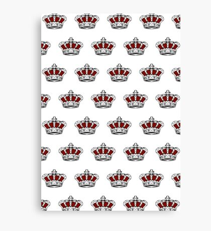 Red Crown - Pattern 1 Canvas Print