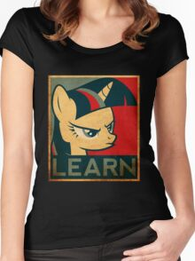 Brony - Learn Women's Fitted Scoop T-Shirt
