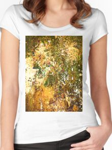 EXPLODING PUMPKIN (Painted Pixels) Women's Fitted Scoop T-Shirt
