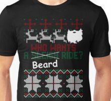 Who wants beard ride christmas biker ugly sweater Unisex T-Shirt
