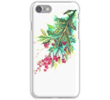 Christmas Holly - T shirt iPhone Case/Skin