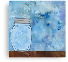 Simple Mason Jar Canvas Print