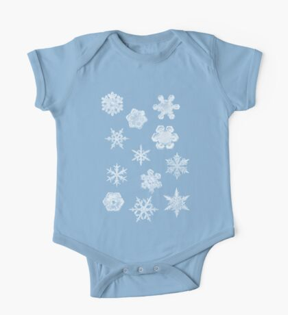 Winter Snowflakes One Piece - Short Sleeve