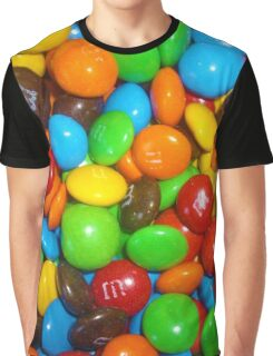 Chocolate Candy Colorful Sweetness Graphic T-Shirt
