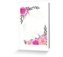Pink floral Gift for women Greeting Card