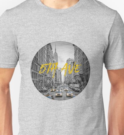 Graphic Art NYC 5th Avenue Unisex T-Shirt